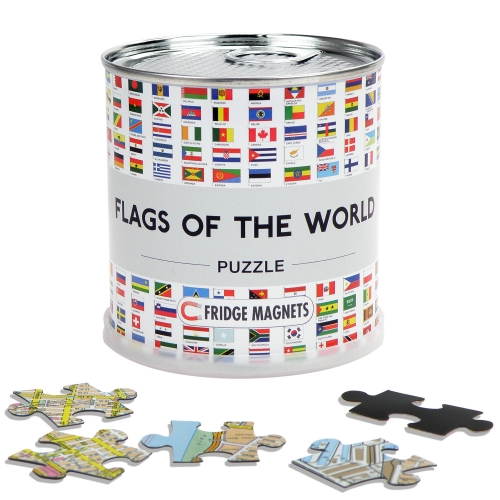 City Puzzle Magnets Flags of the World