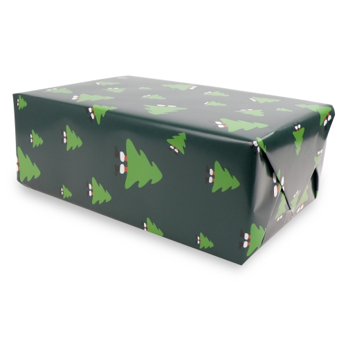Christmas Gift Paper Merry Christmas Green - 10er Set
