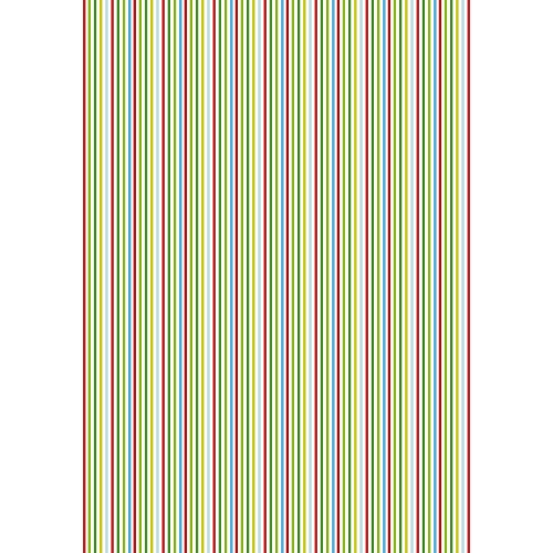 Gift wrap paper stripes - set of 10