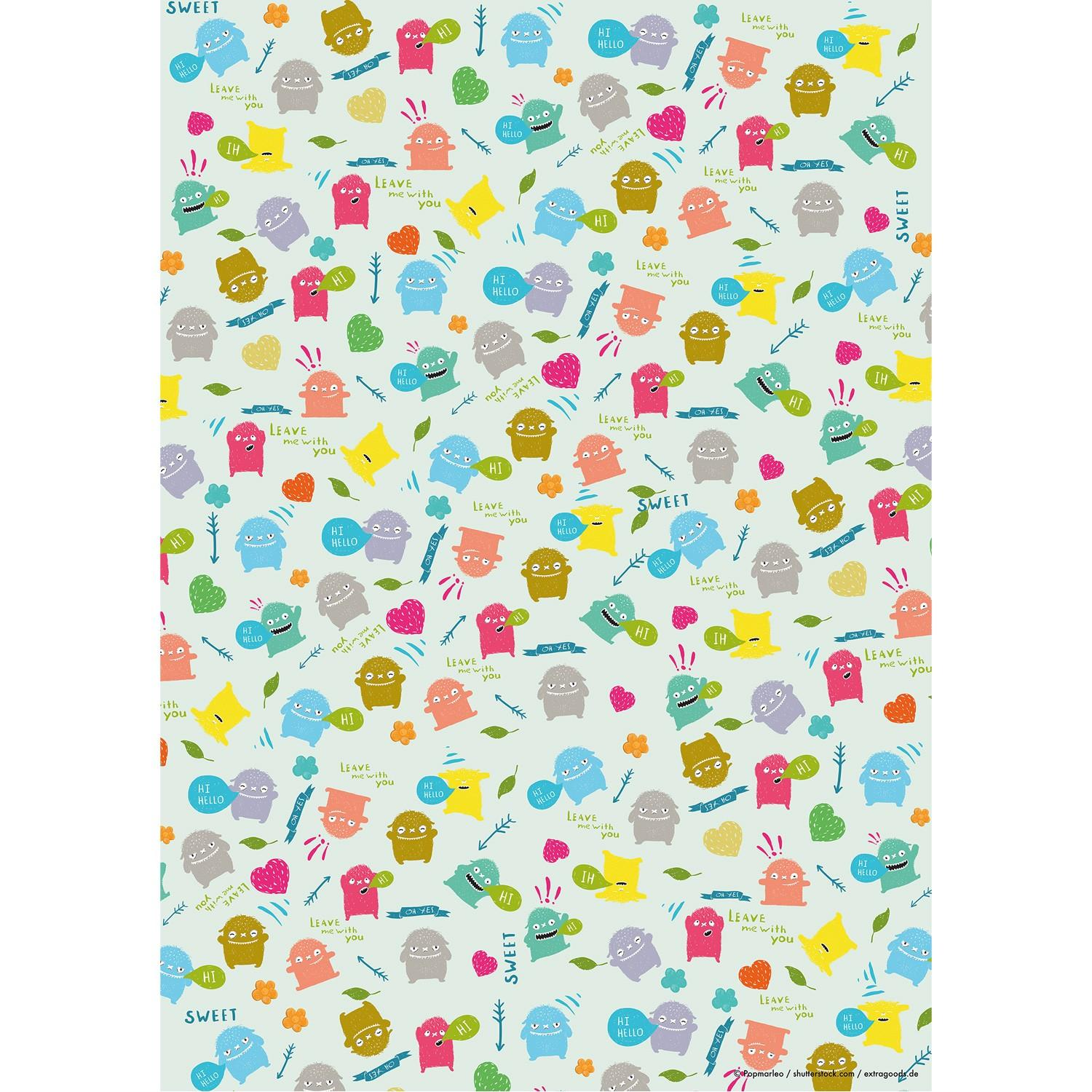 Wrapping Paper Hello Monster ! - 10er Set