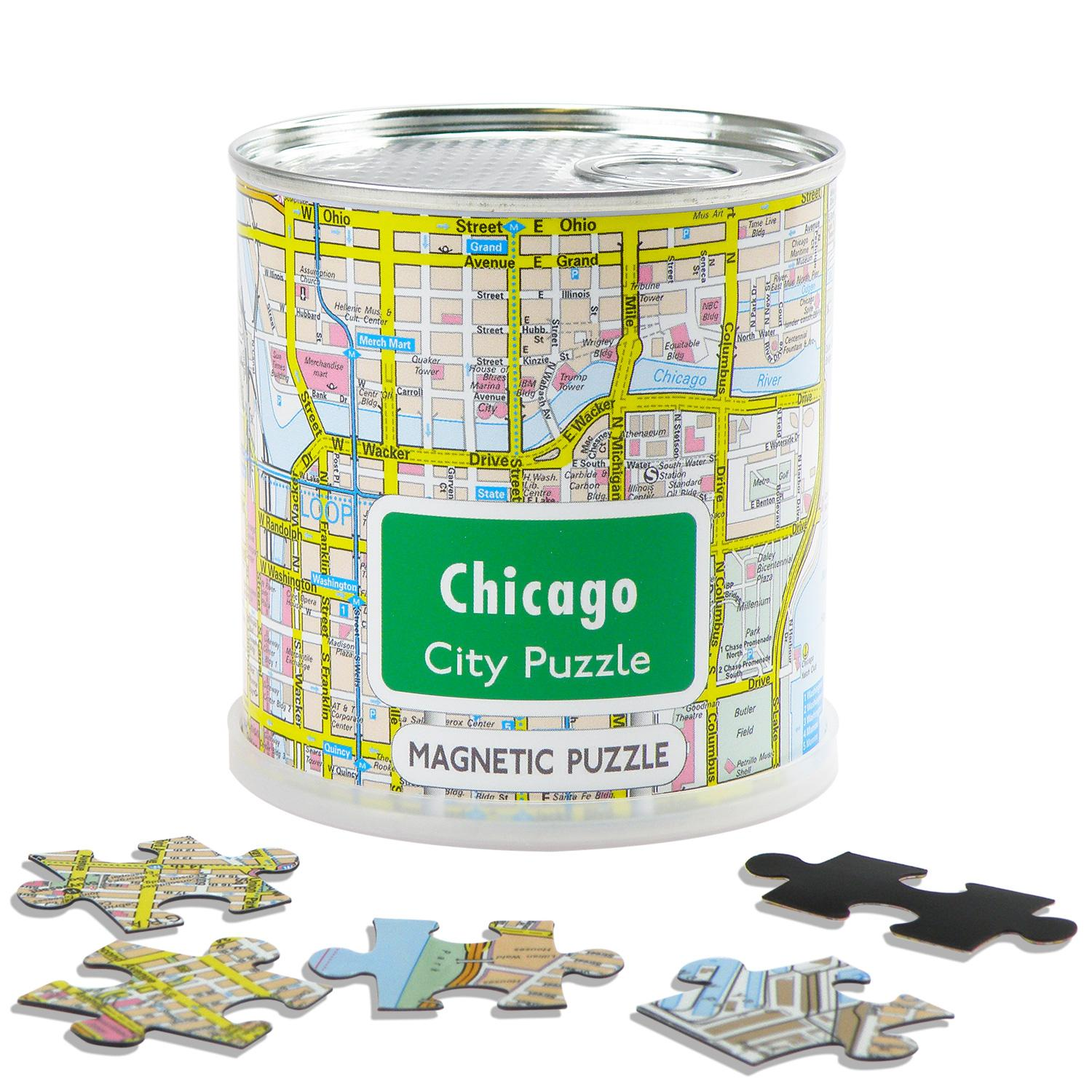 City Puzzle Magnets Chicago