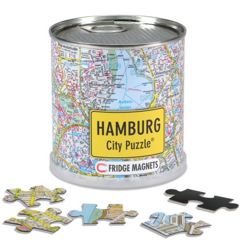 City Puzzle Magnets Hamburg